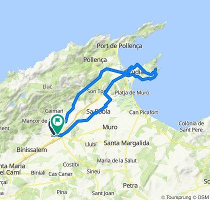 CAMPANET-CAMI DE POLLENÇA-SA MARINA-MANRESA-COLL BAIX-AUCANADA-SA POBLA-INCA