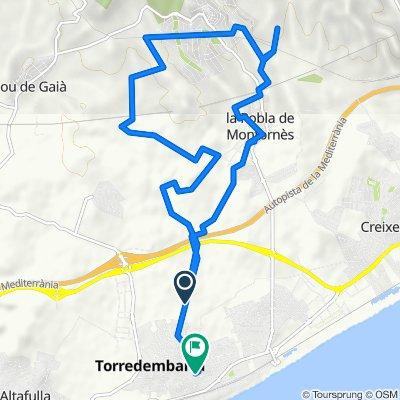De Camino de las Caus, Torredembarra a Calle de San Clemente, 14A, Torredembarra