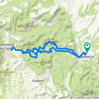 Route to Carrer de les Comes, Castellterçol