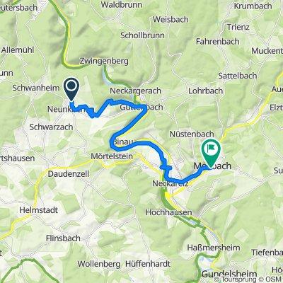 Waldstraße 27, Neunkirchen nach Löwenbrunnengasse 2–4, Mosbach