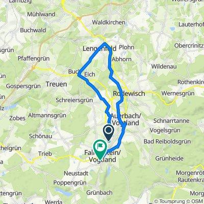 Route von Randsiedlung 8, Ellefeld