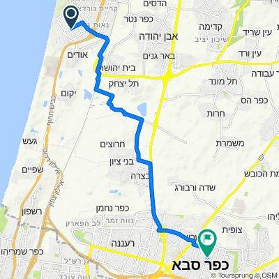 Zalman Shazar Street 10, Netanya to Ha-Shalom Street 8, Kefar Sava
