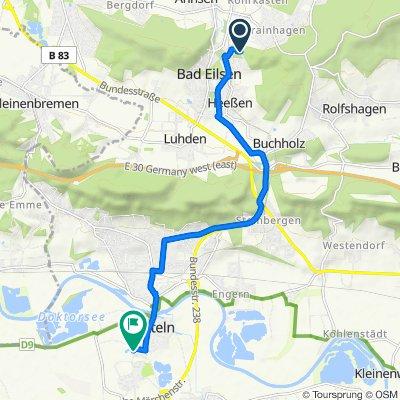 Waldstraße 13, Bad Eilsen nach Graebeweg 1, Rinteln