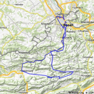 Basel-delemont-Schelten-passwang-basel