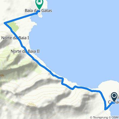 De Cabo Verde, Calhau a Baía das Gatas