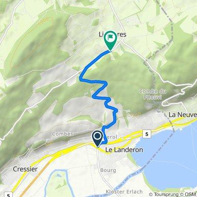P-LeLanderon/Lignières (4.7km, average 7.4%)