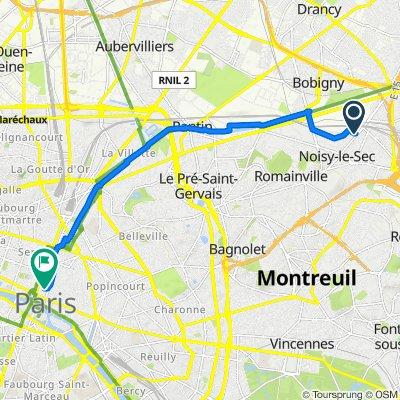 De 77 Rue Jean Jaurès, Noisy-le-Sec à 31 Rue Saint-Merri, Paris