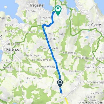 Route from 1 Route de Saint-Samson, Pleumeur-Bodou