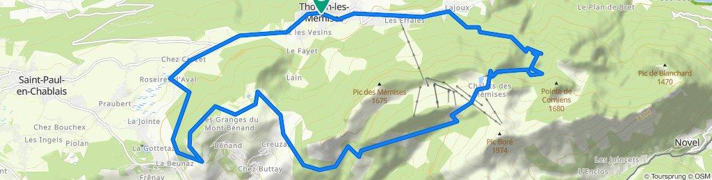 Les Mémises - Mont Bénand