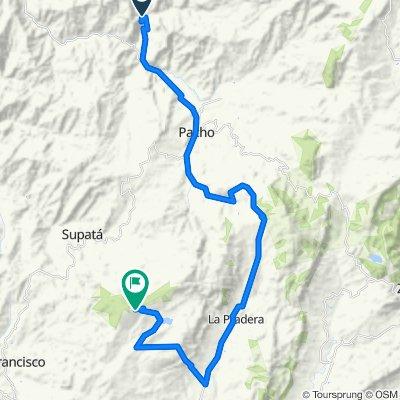 De Vía Pacho - Villagómez, Pacho a Via Alto El Tablazo, Subachoque