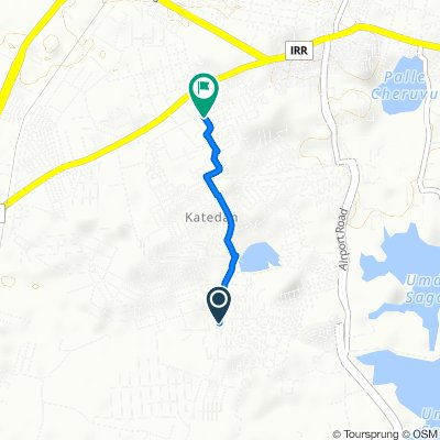 Unnamed Road, Hyderabad to 8-13-8/47/5B, Katedhan