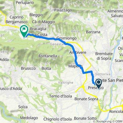 Da Via 25 Aprile 20/A, Presezzo a Via Ca' De Rizzi 340, Pontida