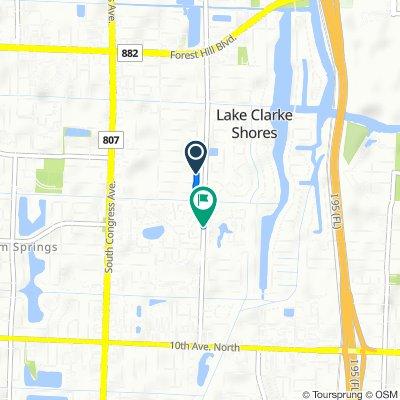 2354 Bimini Dr, West Palm Beach to 2595–2699 Florida Mango Rd, West Palm Beach