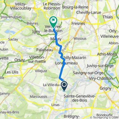 De Chemin des Mascadées 18, Longpont-sur-Orge à Rue d'Estienne d'Orves 51, Verrières-le-Buisson