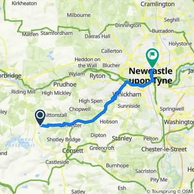 Route to 31 Eslington Ter, Newcastle Upon Tyne