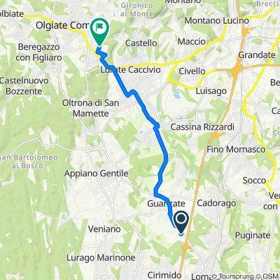 Da Via XXV Aprile 46, Guanzate a Via San Giovanni Bosco 14, Olgiate Comasco