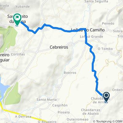 Ruta desde Lugar Chaodarcas de Arriba, 44, O Pereiro de Aguiar