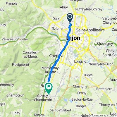De Rue Konrad Adenauer 6, Fontaine-lès-Dijon à Route nationale 4, Brochon