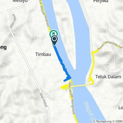 Jalan Jelawat 2, Kecamatan Tenggarong to Jalan K.H. Ahmad Muksin 35, Kecamatan Tenggarong