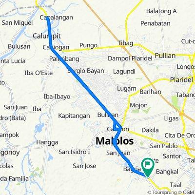 126 Bagna-Panasahan-Matimbo Road, Malolos City to 126 Bagna-Panasahan-Matimbo Road, Malolos City