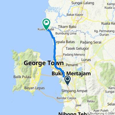 Route to Kuala Muda Penang