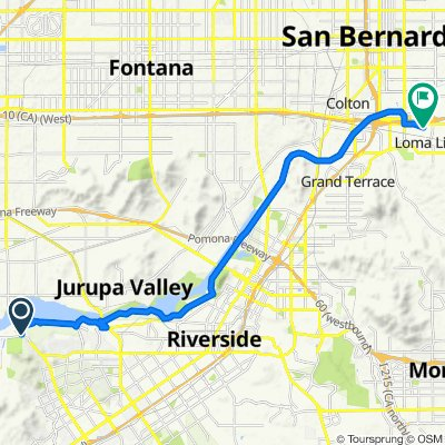Route from 11395–11401 Arlington Ave, Riverside