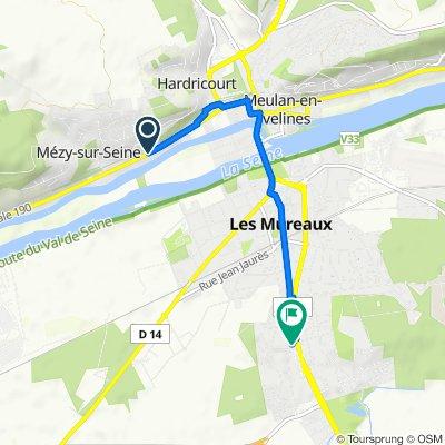 De 36–60 Boulevard Michelet, Hardricourt à 204 Avenue Paul Raoult, Les Mureaux