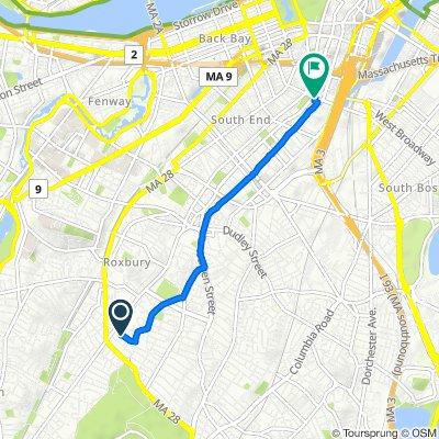 3 Westminster Terr, Boston to 110 E Berkeley St, Boston