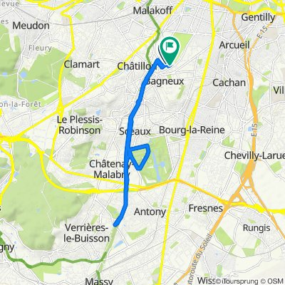 De 32 Avenue de Garlande, Bagneux à 15 Allée Pablo Picasso, Bagneux