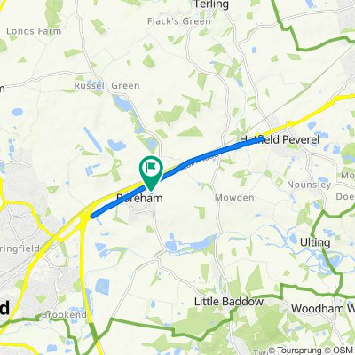 Boreham to Hatfield Peverel - there and back
