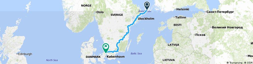 0009 Mariehamn - Santiago de Compostela. Part1 Sweden