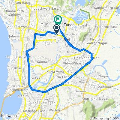 Marol Maroshi Road, Mumbai to Marol Maroshi Road 4/32-A, Mumbai