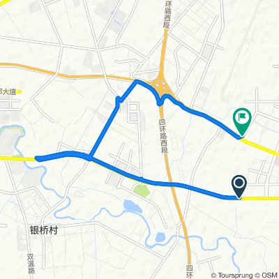 Route from Guanghua Avenue Capital Fengshang Northwest 300 Meters, Chengdu