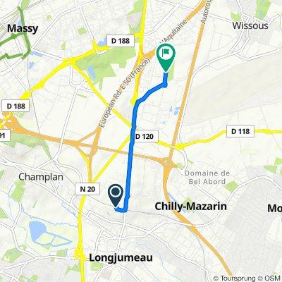 Itinéraire vers 3 Rue Charles Lindbergh, Wissous