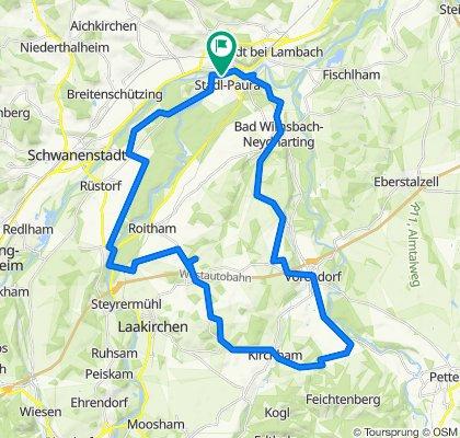 Lambach - Bad Wimsbach - Vorchdorf - Einsiedling - R13 Kirchham - Lindach - Traunfall - R4 Lambach