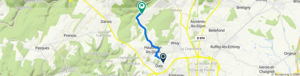 Itinéraire à partir de Rue des Clos, Daix