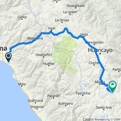 Ruta a Jirón Tambo de Mora 215, Huancavelica