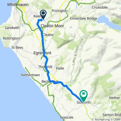 109 Mill Hill, Cleator Moor to 1 Gosforth Gate, Seascale