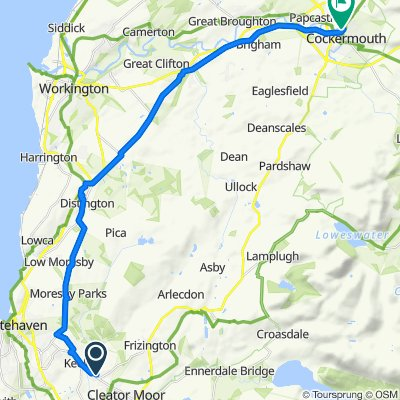 109 Mill Hill, Cleator Moor to Cockermouth Castle, Castlegate, Cockermouth