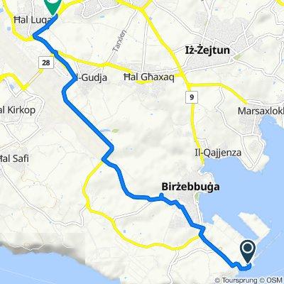 Unnamed Road, Birżebbuġa to Luqa