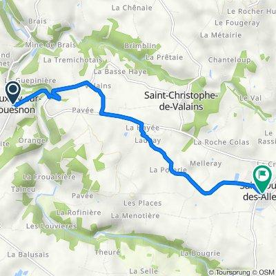 De 1 Rue du Mont-Saint-Michel, Vieux-Vy-sur-Couesnon à 8–10 Place de l'Église, Saint-Ouen-des-Alleux