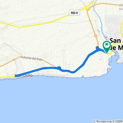 De San Pedro - Santo Domingo, San Pedro De Marcoris a Santo Domingo - San Pedro, San Pedro de Macorís
