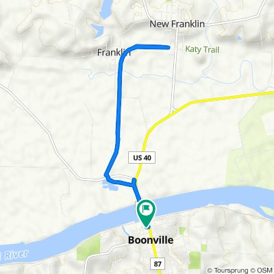 453–491 High St, Boonville to 453–491 High St, Boonville