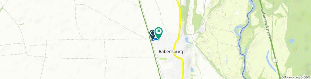 Bahnstraße 674, Rabensburg nach Bahnstraße 581, Rabensburg