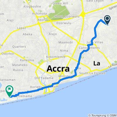Empire Avenue, Accra to Botoi Shiienyo Street, Accra