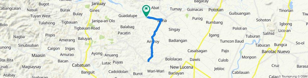 Route from Janiuay - Mina - Pototan Road