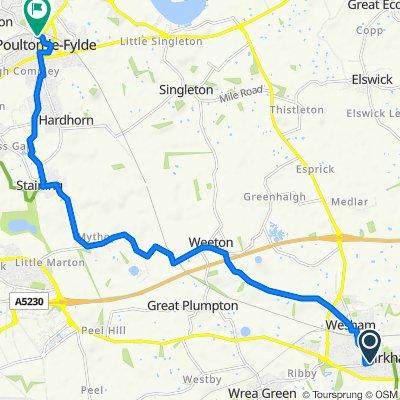 43 Moor St, Preston to 3 Tithebarn St, Poulton-Le-Fylde
