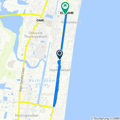 Route from Bethal Nagar, Chennai