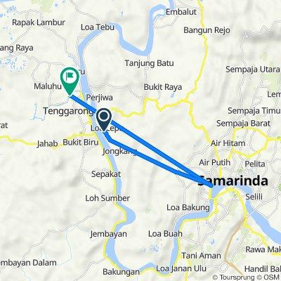 Jalan AP. Mangkunegara 7, Kecamatan Tenggarong Seberang to Jalan Gunung Kinibalu 3, Kecamatan Tenggarong