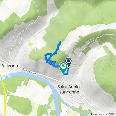 De Route de la Tuilerie, Saint-Aubin-sur-Yonne à 6 Chemin de la Ferrante, Saint-Aubin-sur-Yonne